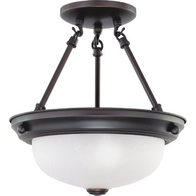 Trammell 2 Light LED Semi Flush Mount