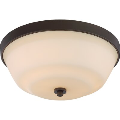 Traynor 2-Light Flush Mount Finish: Forest Bronze