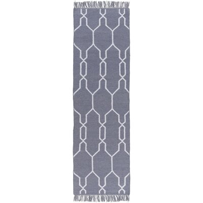 Larksville Hand-Woven Gray Outdoor Area Rug Rug Size: Runner 26 x 8
