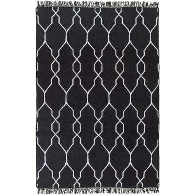 Larksville Hand-Woven Black Outdoor Area Rug Rug Size: Rectangle 36 x 56