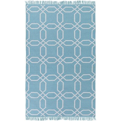 Larksville Hand-Woven Blue Outdoor Area Rug Rug Size: 5 x 8