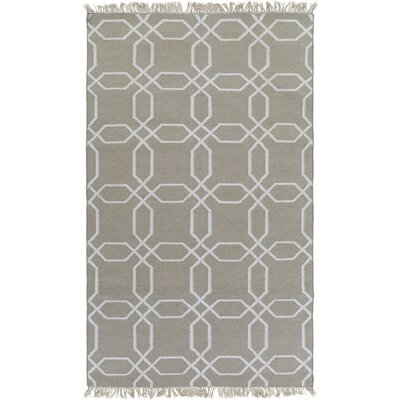 Larksville Hand-Woven Gray Outdoor Area Rug Rug Size: 5 x 8
