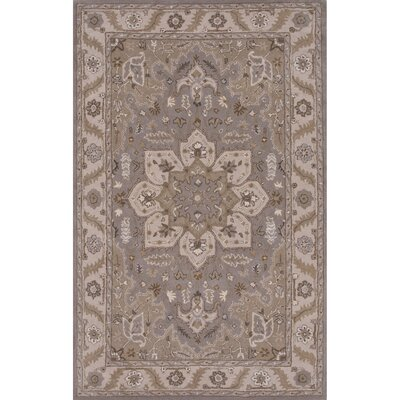 Trudell Hand-Tufted Gray Area Rug Rug Size: Rectangle 96 x 136