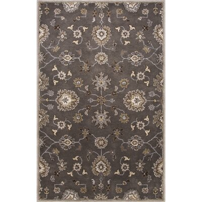 Trinningham Hand-Tufted Wool Gray/Ivory Area Rug Rug Size: Rectangle 5 x 8