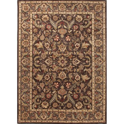 Trinningham Wool Brown/Tan Area Rug Rug Size: 8 x 10