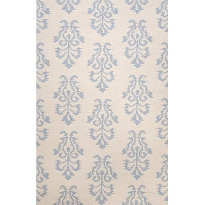 Tunstall Tribal Ivory/Blue Area Rug Rug Size: Rectangle 36 x 56