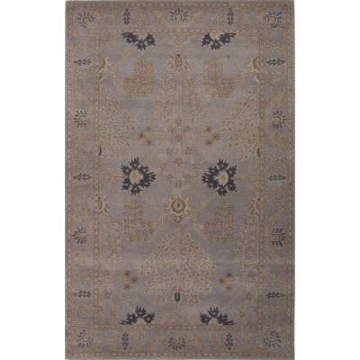 Trinningham Hand-Woven Wool Gray Area Rug Rug Size: Rectangle 9 x 12