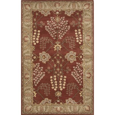 Trinningham Wool Hand Tufted Red/Ivory Area Rug Rug Size: 2 x 3
