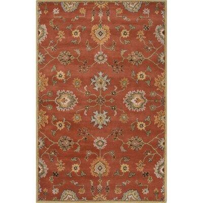 Trinningham Wool Hand Tufted Auburn Area Rug Rug Size: 5 x 8