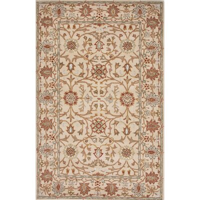 Trinningham Wool Hand Tufted Ivory Area Rug Rug Size: 2 x 3