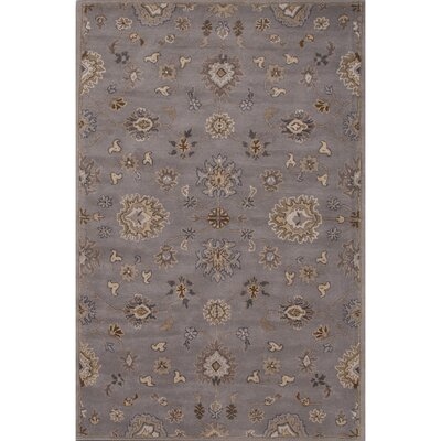 Trinningham Wool Hand Tufted Gray Area Rug Rug Size: 5 x 8