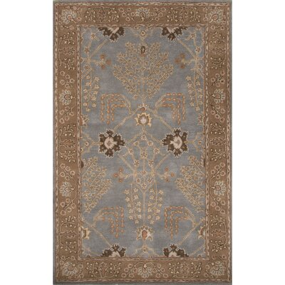 Trinningham Wool Hand Tufted Blue/Brown Area Rug