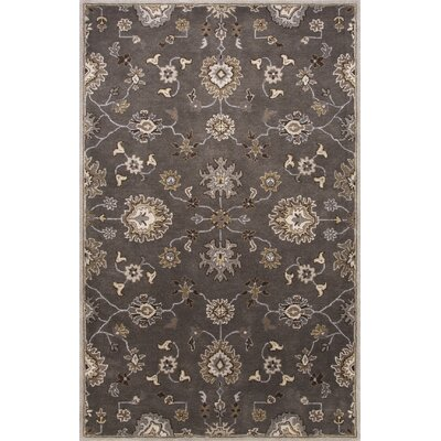 Trinningham Hand-Tufted Wool Gray/Ivory Area Rug Rug Size: 96 x 136