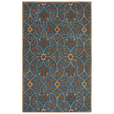 Trinningham Hand-Tufted Blue Area Rug Rug Size: Rectangle 5 x 8