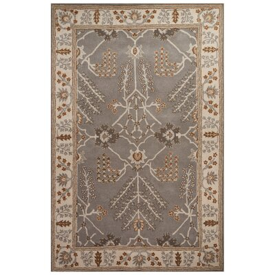Trinningham Hand-Tufted Gray/Ivory Area Rug Rug Size: Rectangle 8 x 10