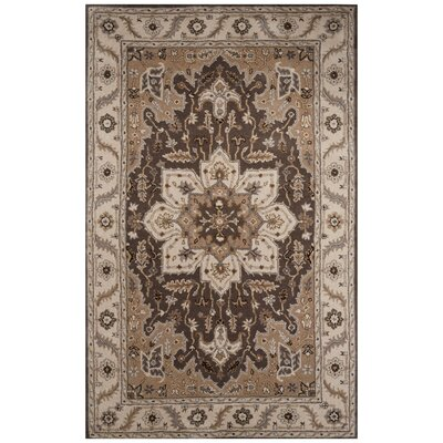 Trinningham Hand-Tufted Gray Area Rug Rug Size: 9 x 12