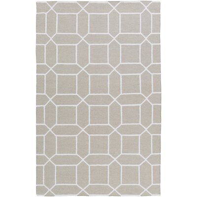 Larksville Hand-Woven Gray Outdoor Area Rug