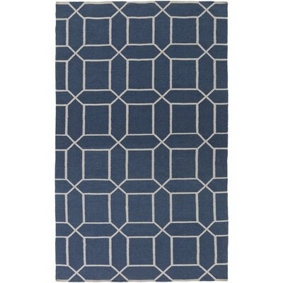Larksville Hand-Woven Blue Outdoor Area Rug Rug Size: Rectangle 5 x 8