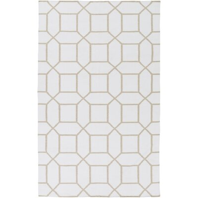 Larksville Hand-Woven Neutral Outdoor Area Rug Rug Size: 8 x 11