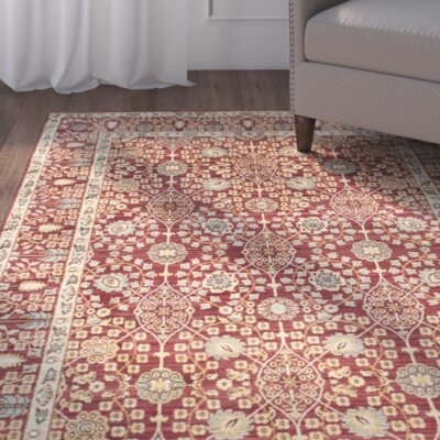 Regis Red/Red Area Rug