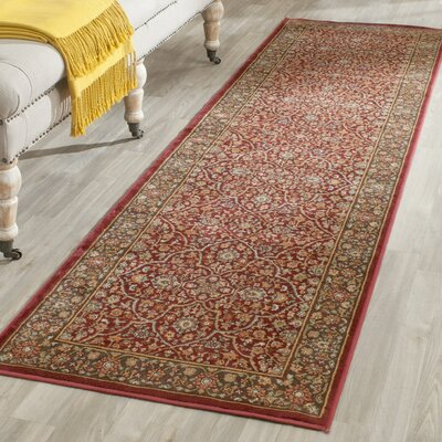 Petronella Red/Brown Area Rug Rug Size: Runner 22 x 8