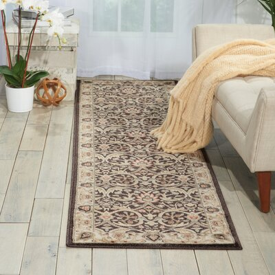 Tyrrell Brown/Beige Area Rug Rug Size: Runner 22 x 76