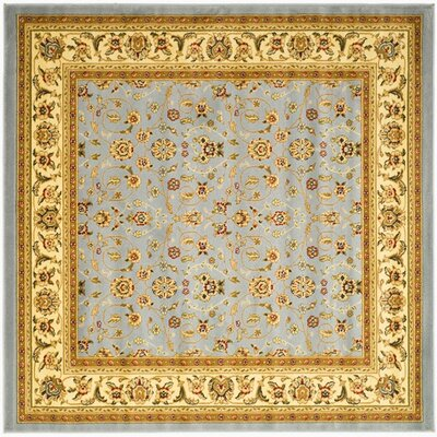 Ottis Light Blue/Ivory Area Rug Rug Size: Square 4