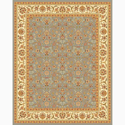 Ottis Light Blue/Ivory Area Rug Rug Size: Rectangle 4 x 6