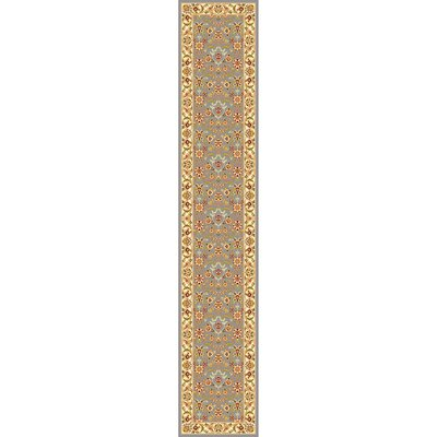 Ottis Light Blue/Ivory Area Rug Rug Size: Runner 23 x 19