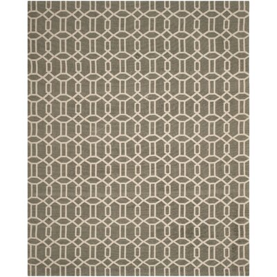 Charing Cross Hand-Woven Gray/Beige Area Rug Rug Size: Rectangle 8 x 10