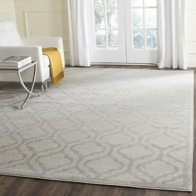 Carman Ivory/Light Gray Indoor/Outdoor Area Rug Rug Size: Rectangle 9 x 12