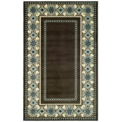 Taj Mahal Hand-Loomed Brown/Ivory Area Rug Rug Size: Rectangle 27 x 4
