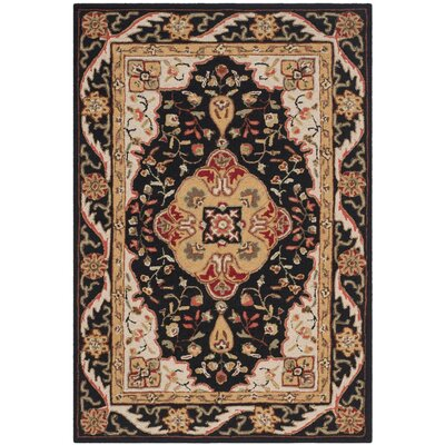 Bryonhall Hand Hooked Area Rug Rug Size: 4 x 6