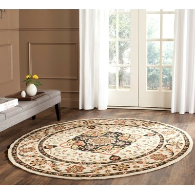 Bryonhall Hand Hooked Area Rug Rug Size: Round 6
