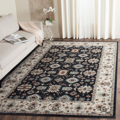 Bridgeport Navy/Creme Area Rug Rug Size: 53 x 76