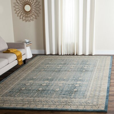 Bristol Woods Blue/Beige Area Rug Rug Size: Rectangle 51 x 77