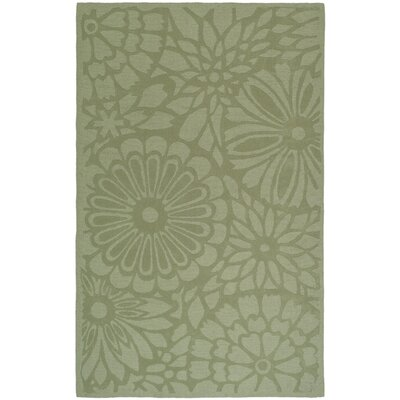 Full Bloom Hand-Woomed Beige/Green Area Rug Rug Size: Rectangle 8 x 10