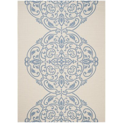 Topiary Signet Blue/Tan Area Rug Rug Size: Rectangle 8 x 112