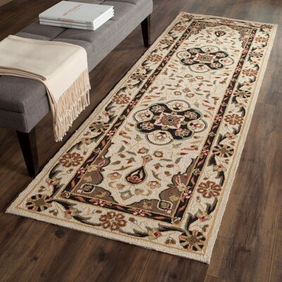 Bryonhall Hand Hooked Area Rug Rug Size: Runner 26 x 10
