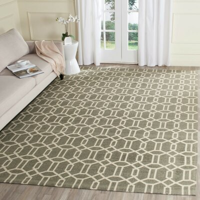 Charing Cross Hand-Woven Gray/Beige Area Rug Rug Size: Rectangle 5 x 8