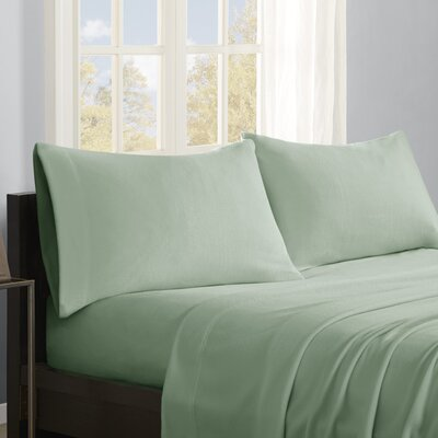 Butlerville 4 Piece Micro Fleece Sheet Set Color: Green, Size: Cal King