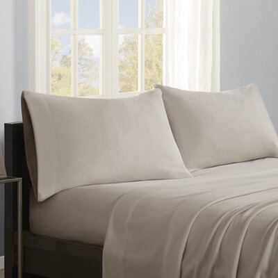 Butlerville 4 Piece Micro Fleece Sheet Set Color: Khaki, Size: Twin XL