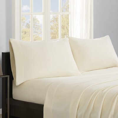 Butlerville 4 Piece Micro Fleece Sheet Set Color: Ivory, Size: Twin XL