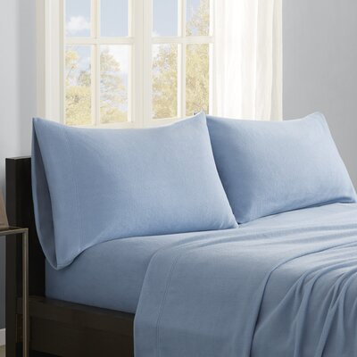 Butlerville 4 Piece Micro Fleece Sheet Set Size: King, Color: Blue