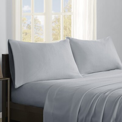 Butlerville 4 Piece Micro Fleece Sheet Set Color: Gray, Size: Twin XL