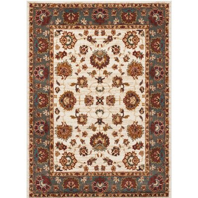 Lowe Beige/Gray Area Rug Rug Size: Rectangle 51 x 76