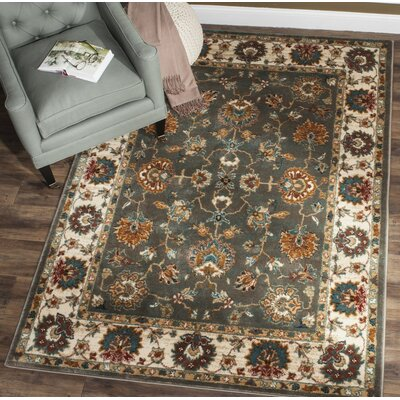 Lowe Gray/Beige Area Rug Rug Size: Rectangle 8 x 10