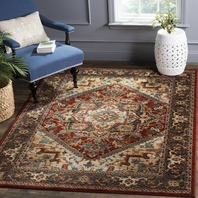 Lowe Red/Beige Area Rug