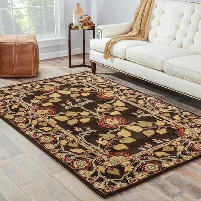 Trinningham Deep Charcoal Area Rug Rug Size: Rectangle 36 x 56