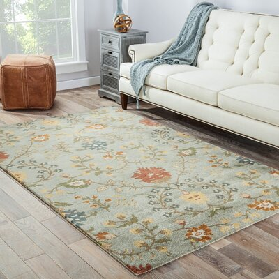Thorson Blue Rug Rug Size: Rectangle 8 x 11
